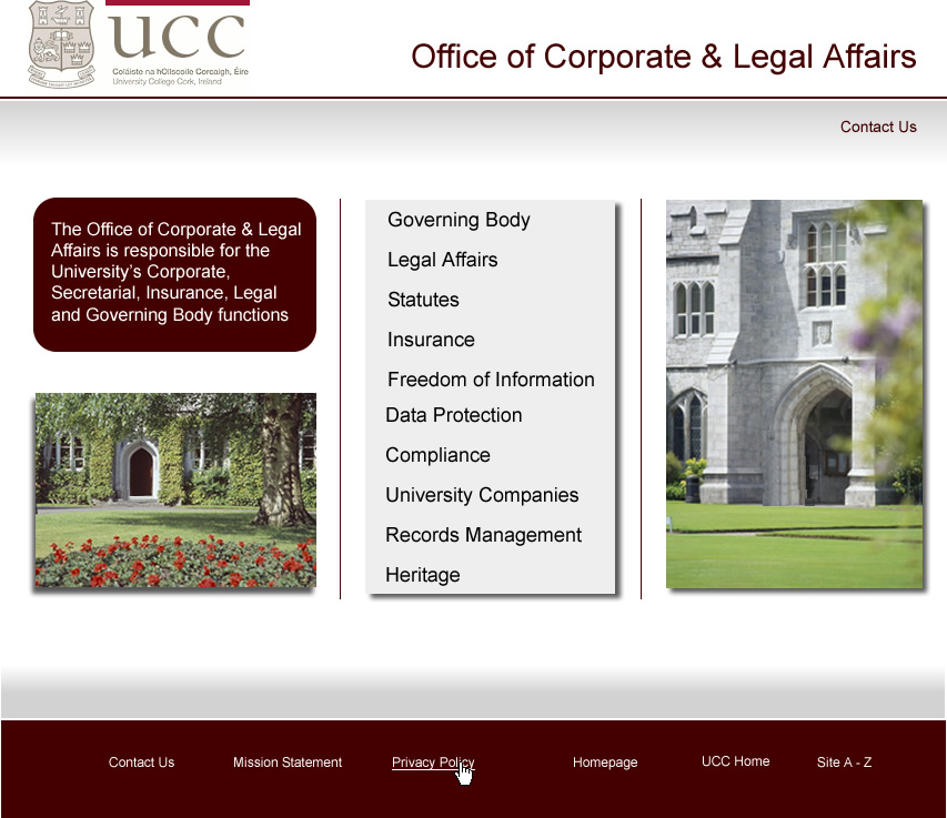Office of Corporate & Legal Affairs, University College Cork