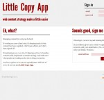 Little Copy App Web content strategy